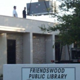 Friendswood Library commercial HVAC project by Clear the Air.
