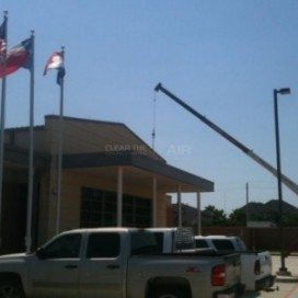 Friendswood Public Safety commercial HVAC project by the experts at Clear the Air.