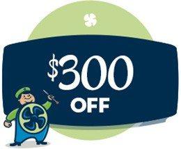 HVAC savings - $300 off coupon