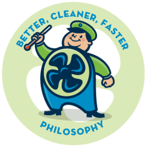 Better, cleaner, faster philosophy with HVAC company, Clear the Air.