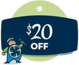 HVAC savings - $20 off coupon